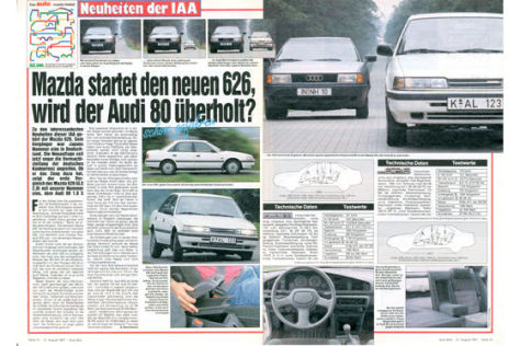 Mazda 626 gegen Audi 80