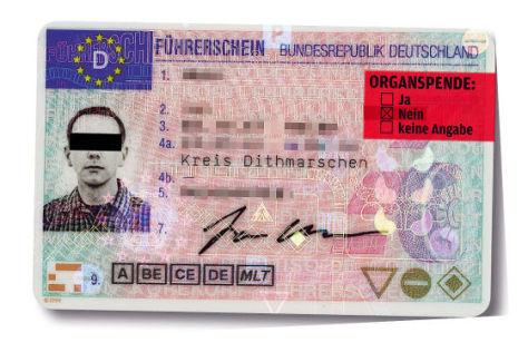 Führerschein als Organspendeausweis