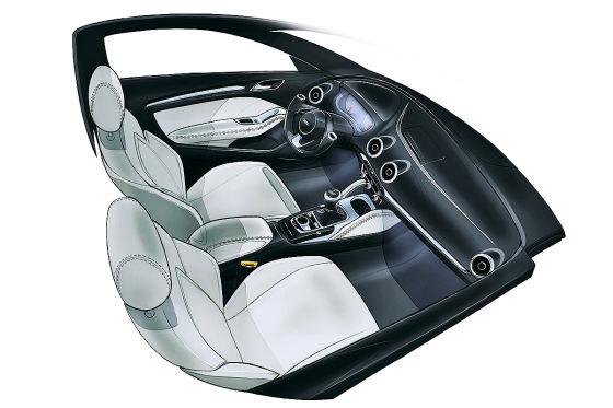 Illustration Interieur Audi A3
