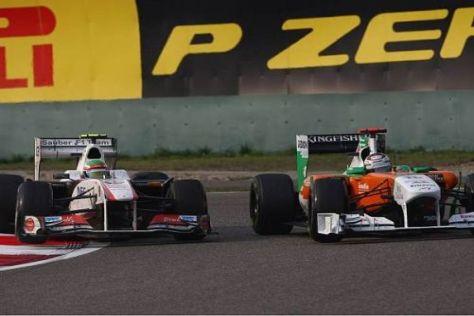 Sergio Perez rutschte etwas übermotiviert in Adrian Sutil hinein