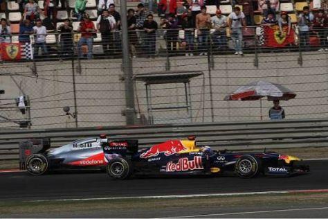 Sebastian Vettel hatte am Ende gegen Lewis Hamilton keine Chance