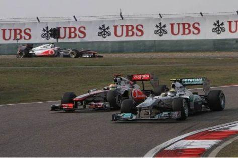 Nico Rosberg hielt lange Zeit beide McLaren-Mercedes in Schach