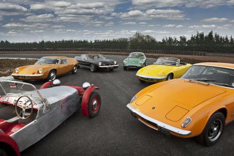 Lotus Seven, Lotus Europa, Lotus Elite, Lotus Elan