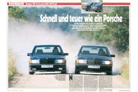 Mercedes 190er von Brabus und AMG
