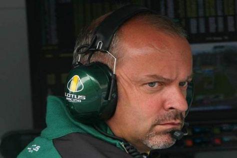 Mike Gascoyne ist stolz, dass es Lotus neuerdings mit Williams aufnehmen kann