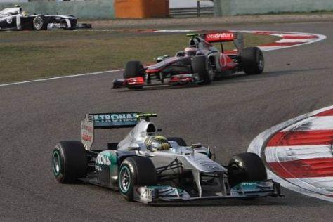 Mercedes präsentierte sich in Schanghai auf McLaren-Niveau