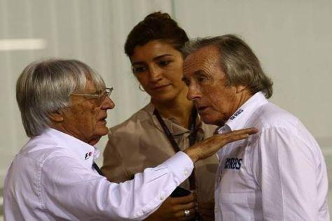 Jackie Stewart (r.) hält Bernie Ecclestone nach wie vor für jung und fit genug
