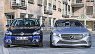 Mercedes A-Klasse Studie/VW Golf