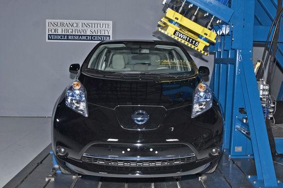 Nissan Leaf im US-Crashtest