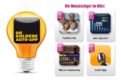 Die Goldene Auto-App 2011: Die März-Gewinner