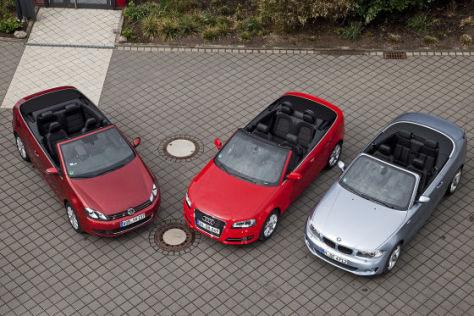 VW Golf Cabrio 2.0 TDI Audi A3 TFSI Cabrio BMW 123d Cabrio
