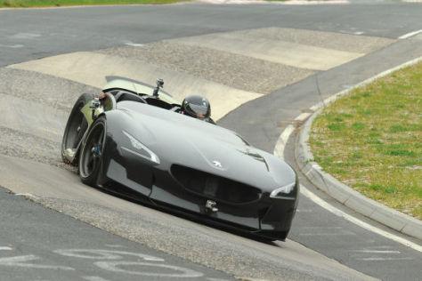 Peugeot EX1 auf der Nordschleife des Nürburgrings