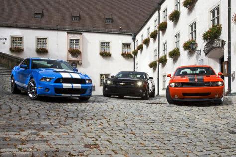Ford Shelby GT 500 Dodge Challenger SRT8 Chevrolet Camaro SS