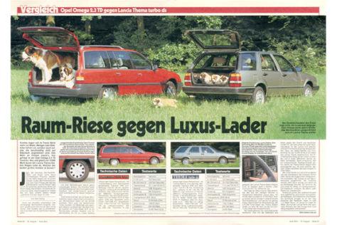 Opel Omega 2.3 TD Lancia Thema turbo ds
