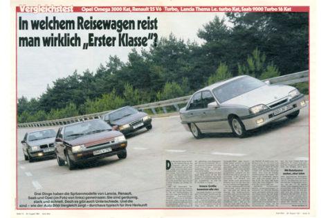 Opel Omega 3000 KAT Renault 25 V6 Turbo Lancia Thema i.e. turbo kat Saab 9000 Turbo 16 Kat