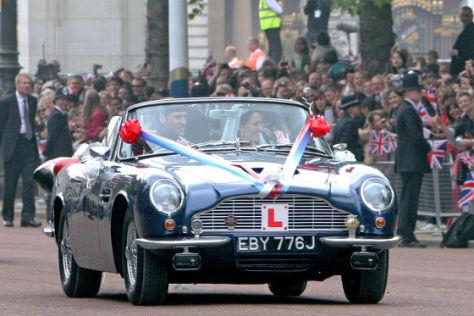 William und Kate im Aston Martin DB6