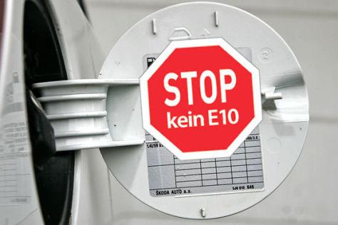 Aufkleber Stop kein E10