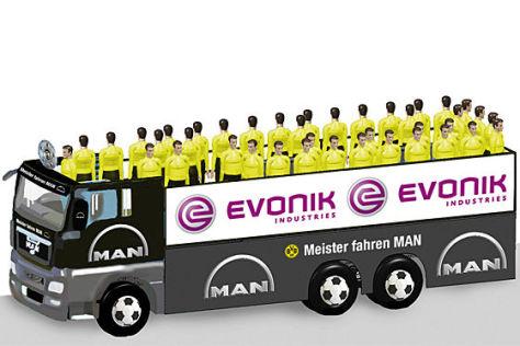 Dortmund: Meister-Mobil von MAN