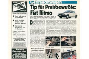 Fiat Ritmo: Gebrauchtwagen