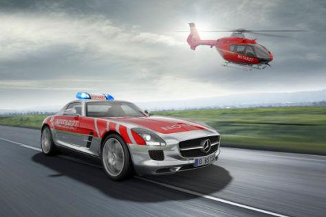 Mercedes SLS AMG als Notarztwagen