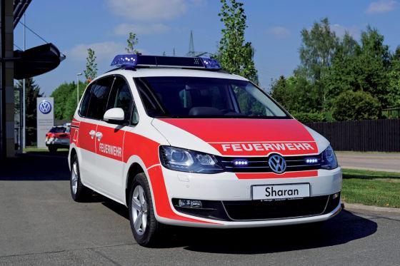 VW Sharan als Feuerwehr-Kommandowagen