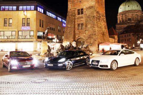 Audi A7 Mercedes CLS Porsche Panamera