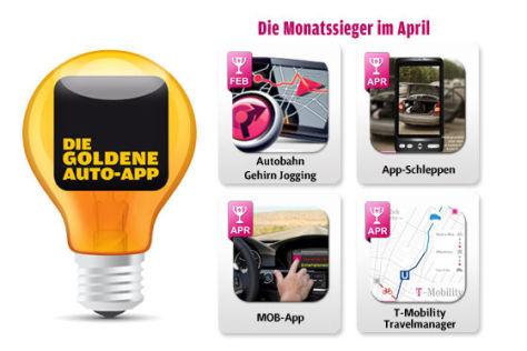 Die Goldene Auto-App 2011: Die April-Gewinner