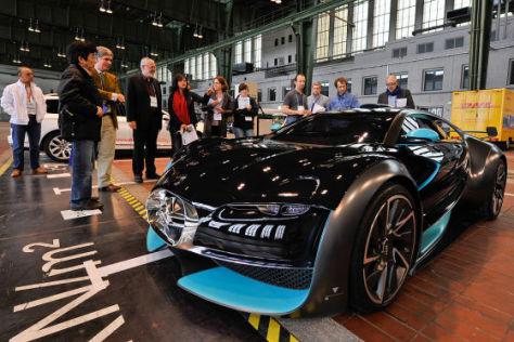 Der Citroën Volt bei der Begutachtung