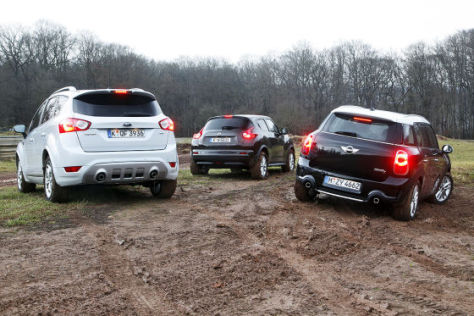 Ford Kuga Mini Countryman Nissan Juke