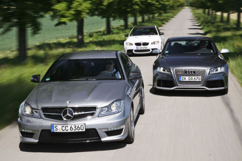 Audi RS 5 BMW M3 Mercedes C 63 AMG