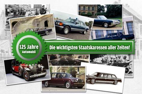 Staatskarossen: Leserwahl 125 Jahre Auto