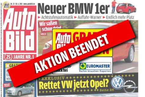 AUTO BILD Gratis-Aktion Urlaubs-Check
