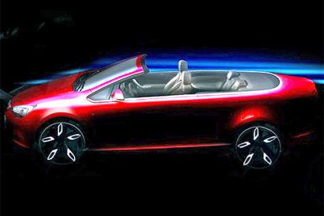 Zeichnung Opel Cabrio (2013)