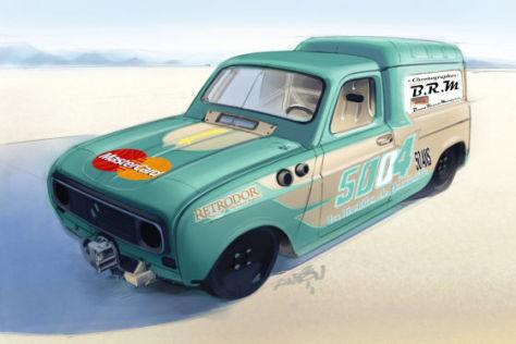 Renault R4: Rekordjagd auf Salzssee