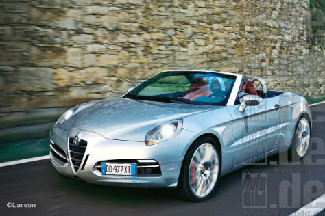 Alfa Spider Illustration