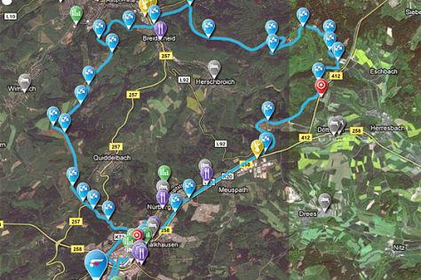 interaktive Nürburgring-Map von Falken