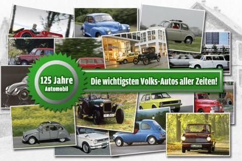 Volks-Autos: Leserwahl 125 Jahre Auto