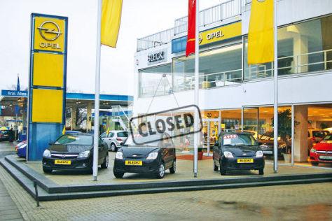 Ehemalige Filiale eines Hamburger Opel-Händlers