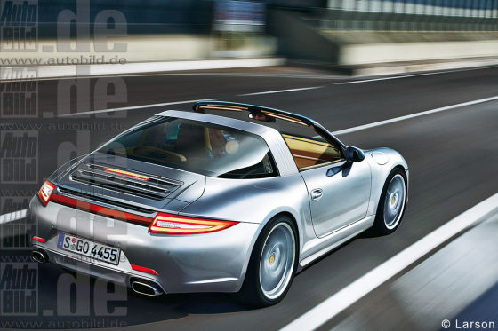 Porsche Targa Illustration