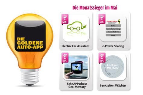 Die Goldene Auto-App 2011: Die Mai-Gewinner