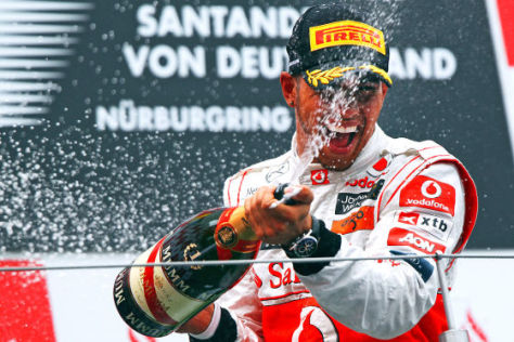 Lewis Hamilton siegt auf dem Nürburgring