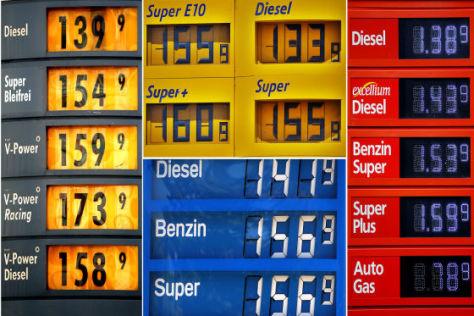 Tankstellen-Preistafeln