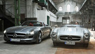 Mercedes SLS AMG Roadster trifft 300 SLS