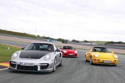 Drei Porsche 911: Vergleich