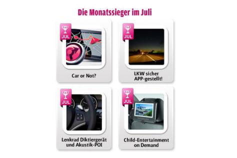 Die Goldene Auto-App 2011: Die Juli-Gewinner
