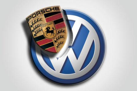 Montage VW- und Porsche-Logo