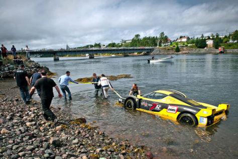 Ferrari Enzo: Rallye-Unfall