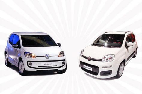 Fiat Panda gegen VW Up
