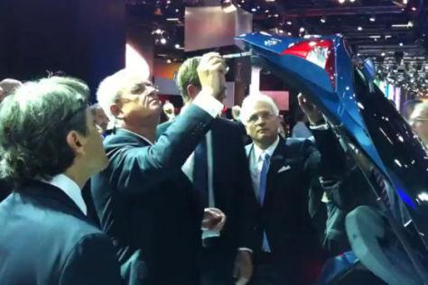 Martin Winterkorn und der  Hyundai i30