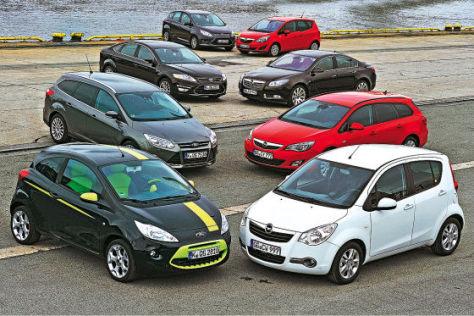 Markenvergleich Ford gegen Opel